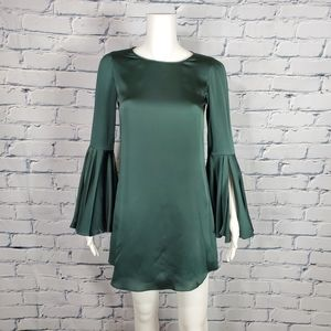 Elizabeth & James Green Silk Mini Dress